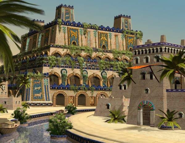 Jardines Colgantes de Babilonia, según el Civ IV