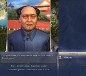 Mao pidiendo... Liberalismo