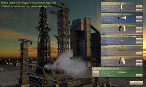Pantalla de construcción de la nave espacial - Victoria por carrera espacial