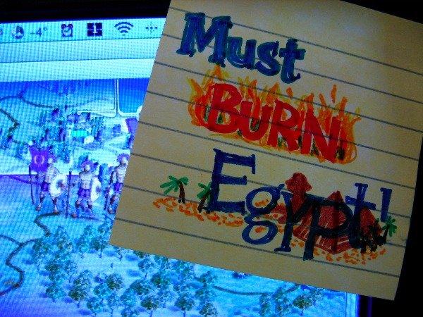 No te olvides de arrasar Egipto