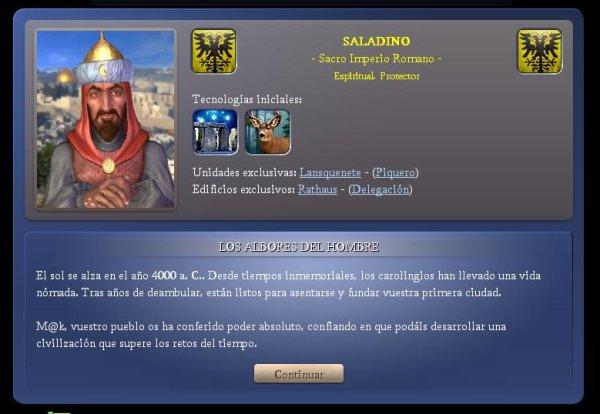 Saladino, emperador germánico